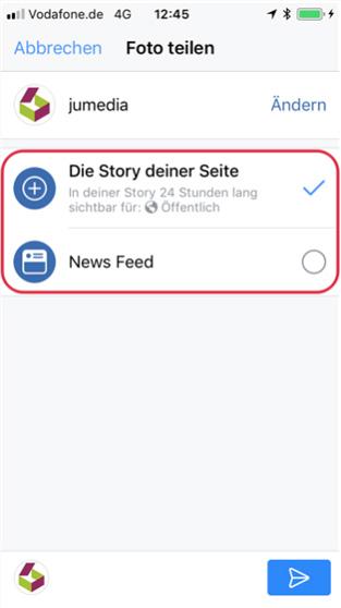 story teilen